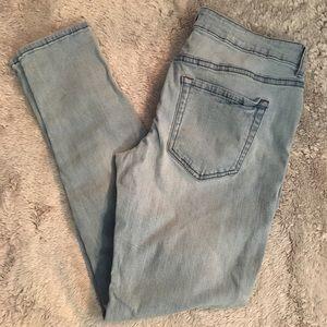 F21 distressed skinny jeans